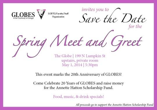 Celebrate TWENTY years of GLOBES at The GLOBE, May 1st!
