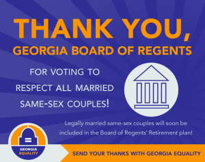 Thank you USG Board of Regents! Send your own note of thanks to them via their website: http://www.usg.edu/contact/